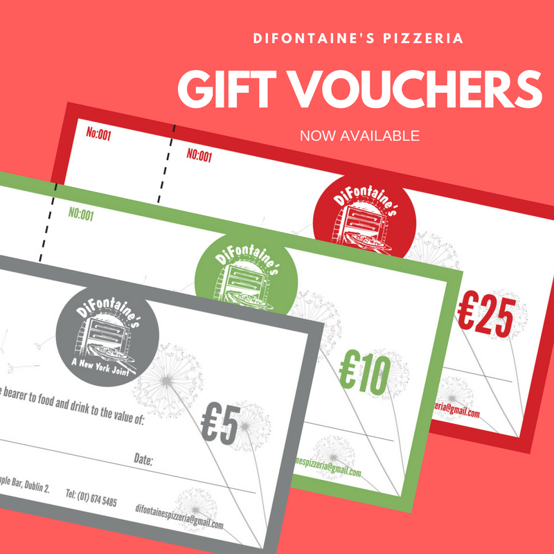 Gift Vouchers for DiFontaine's